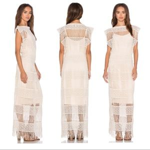 NWT $198 Anthropologie Callahan Crochet Maxi Dress